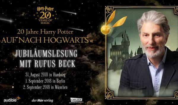 Hamburg ich komme! | Potter-Lesung mit Rufus Beck | Werbung