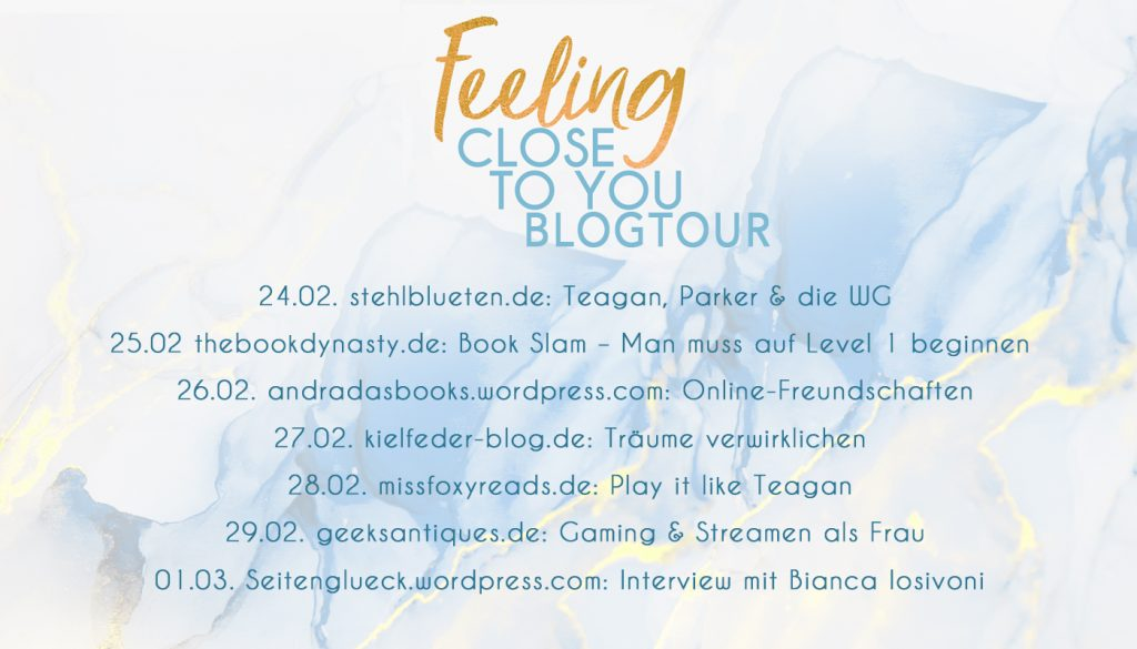Blogtour, Feeling Close To You, Bianca Iosivoni, Lyx Verlag