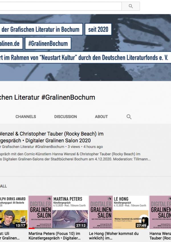 Rudolph-Dirks-Award-Panel auf dem Digitalen Gralinen-Salon in Bochum